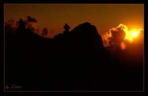Sonnenuntergang im 1. Hochlager