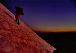 die letzten Höhenmeter bis zum Gipfel